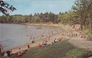 BRAMPTON, Ontario, Canada, 1940-1960's; Bathing Scene At Heart Lake