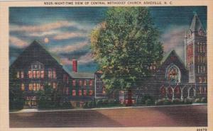North Carolina Asheville Central Methodist Church At Night