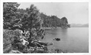 Cave Rock Lake Tahoe California 1940s RPPC real photo postcard 9534