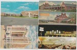 Lot of 4 vintage hotel motel restaurants Postcards