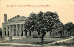 c1910 Printed Postcard; University of Minnesota Library, Minneapolis MN unposted
