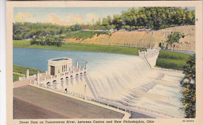 Ohio Dover Dam On Tuscarawas River Between Canton Dover and New Philadelphia ...