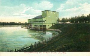 C-1910 Lima Ohio View McCullough Lake Picnic Grounds Postcard 12101