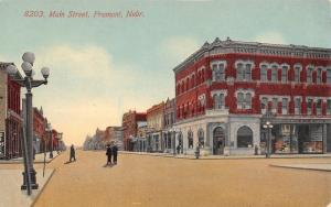 Fremont Nebraska~Main Street~Thad H Quinn Dry Goods~FW Woolworth~1910 Postcard