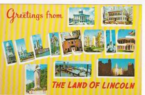 Illinois Greetings from The Land Of Lincoln