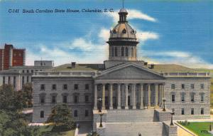 South Carolina State House, Columbia, S.C.,  Early Linen Postcard, Unused