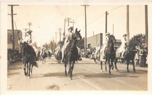 F15/ Parade Real Photo RPPC Postcard c1910 Roses Horses Uniforms 1
