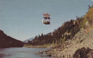 Cable car crossing, Fraser River from Boston Bar to West Bend, British Columb...