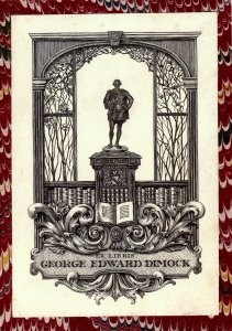 Tiffany Stained Glass Bookplate Design