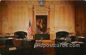 Assembly Room, Independence Hall Philadelphia, PA Patriotic Postcard Post Car...