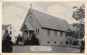 Paulsboro New Jersey~St John's Roman Catholic Church~House Behind~1940s B&W PC