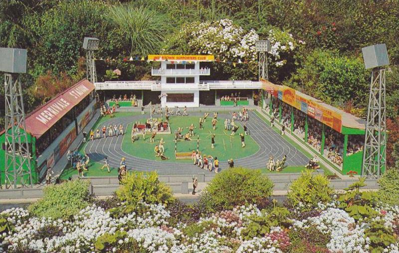 Flowers, The Sports Stadium, Merrivale Model Village, Great Yarmouth, Norfolk...