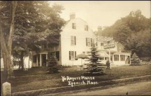 Ipswich MA Ye Rogers Manse Restaurant c1910 Real Photo Postcard