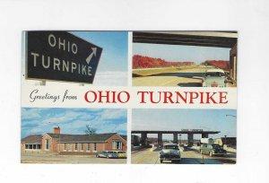 Vtg 1950's/60's Greetings from Ohio Turnpike Plastichrome Postcard