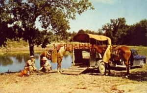 TEXAS RANGER NOONDAY CAMP SCENE, unloading their mounts