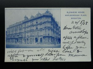 East Sussex BRIGHTON Marlborough Place BLENHEIM HOUSE c1908 Postcard