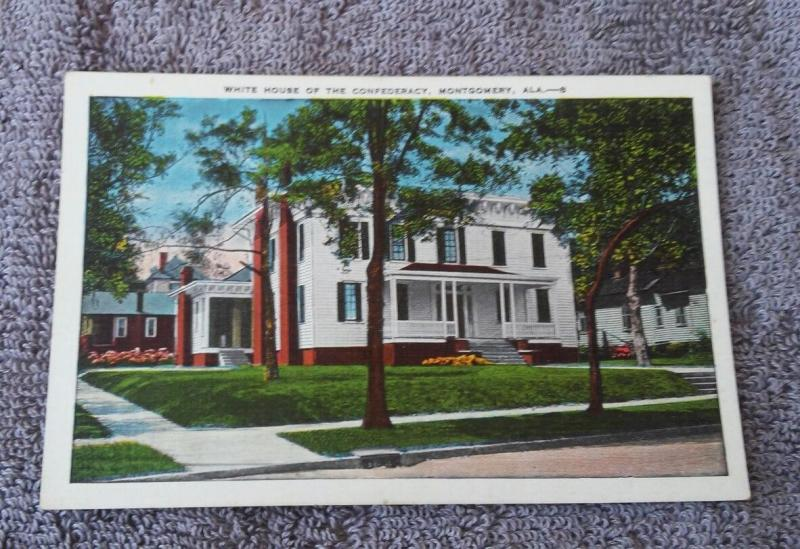 Postcard AL Montgomery the First White House of the Confederacy J Davis