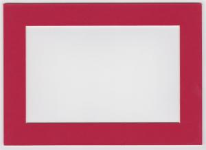 Custom Cut Postcard Mat Fits 5x7 Frame RED