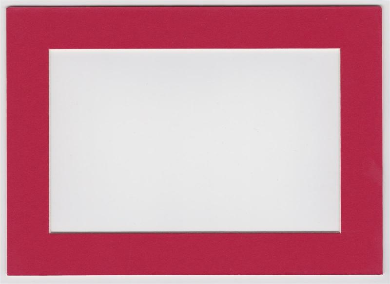 Custom Cut Postcard Mat Fits 5x7 Frame RED