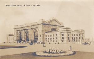 New Union Railroad Depot Kansas City Missouri Real Photo
