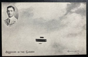 Mint RPPC Real Picture Postcard Early Aviation Brookins In The Clouds