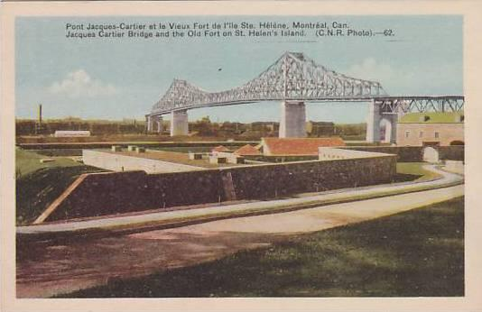 Jacques cartier bridge and the old fort on St. Helen's Island, Canada,00-10s