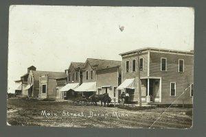 Borup MINNESOTA RP 1915 MAIN STREET nr Twin Valley Ada Moorhead Ulen Hawley