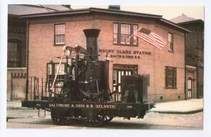 Atlantic B&O Railroad Museum Mt. Clare RR Postcard Train