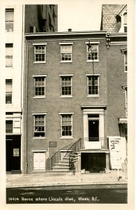 DC - Washington. House Where President Lincoln Died   *RPPC
