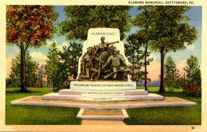 PA - Gettysburg. Alabama Memorial