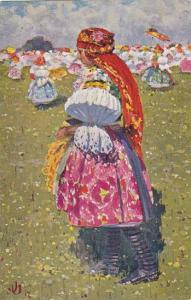 AS: Joza Uprka, Staromestanka u. Uher, Hradiště, Czech Republic, 1900-1910s