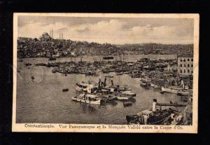 031247 TURKEY COSTANTINOPLE Corne d'Or port view Vintage PC