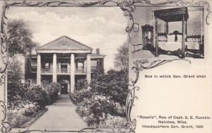 Mississippi Natchez Rosalie Residence Of Captain S E Rumble General Grant Hea...