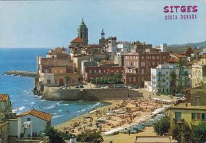 La Punta and Sant Sebastia Beach, SITGES, Spain, PU-1973