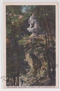 Teddyuscung Indian Rock Fairmount Park Philadelphia Pennsylvania Postcard