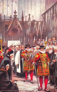 Raphael Tuck 9221 Yeomen of The Guard State Dress Westminster Abbey Postcard