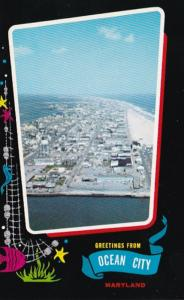 Maryland Greetings From Ocean City Aerial View Looking North From The Inlet