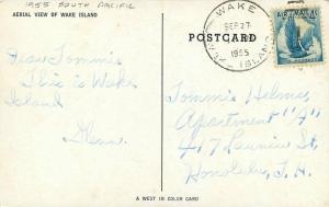 Aerial View Wake Island 1955 South Pacific Postcard 2658