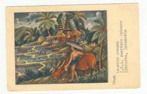 Balinese drawing, Indonesia, PU-1956