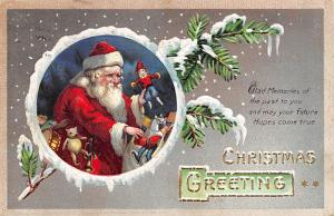 Santa Claus Post Card Old Vintage Antique Christmas Postcard 1910