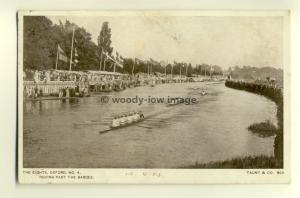 tp6337 - Ox'shire - The Eights, Oxford, No4, Racing Past the Barges-  Postcard