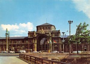 Postcard Nurnberg Hauptbahnhof Train Railway Station (old roof) Germany #44