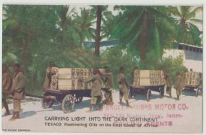TEXACO OIL COMPANY ADVERTISING ILLUMINATING OILS Postcard Africa