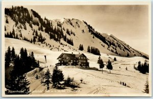 Eichenberg, Austria RPPC Real Photo Postcard HOTEL SCHONBLICK View - Unused