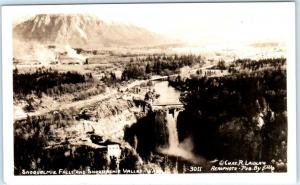 RPPC  SNOQUALMIE FALLS & VALLEY, WA   Laidlaw Photo Pub. by Ellis  Blank Back