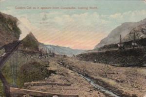 Panama Canal Culebra Cut As It Appears From Cucaracha Looking North 1914
