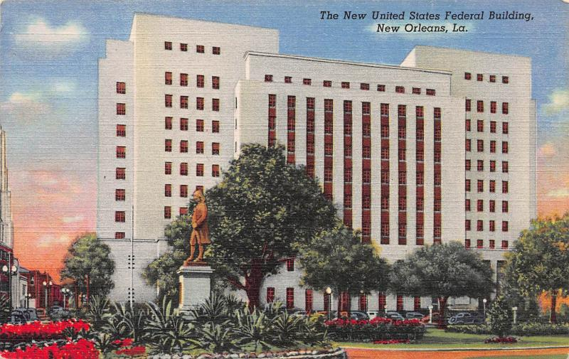 New United States Federal Building, New Orleans, LA, Early Postcard, Unused