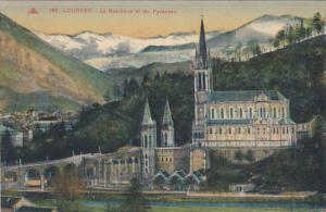 France Lourdes La Basilique et les Pyrenees 1935