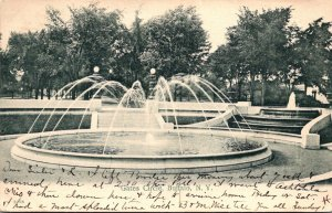New York Buffalo Gates Circle Fountain 1906