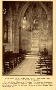 NY - New York City. Cathedral of St John the Divine. Chapel of St Ansgarius